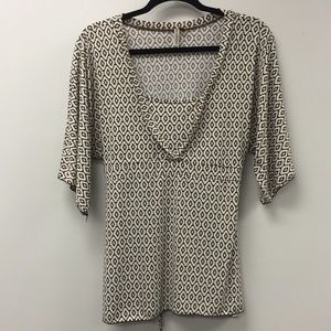Susan Lawrence Top with Flutter Sleeves